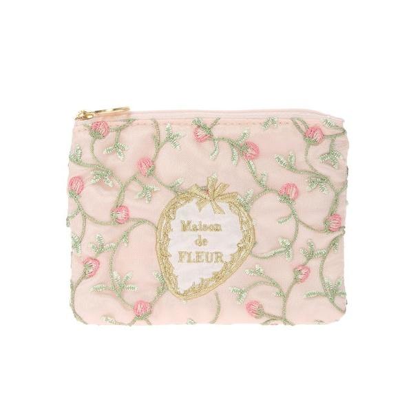 メゾン ・ストロベリー刺繍ティッシュケース/ ド (Maison de FLEUR) フルール
