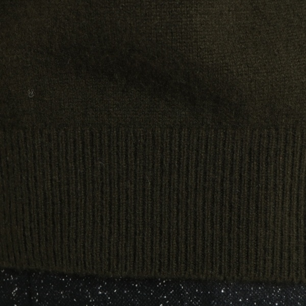 Lセーター カシミア タートルニットインディヴィ INDIVIXiPOkZu
