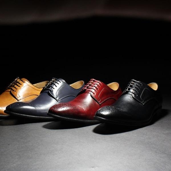 本革 革靴 ドレスシューズ メダリオン レースアップシューズ LUCIUS/ルシウス(LUCIUS)