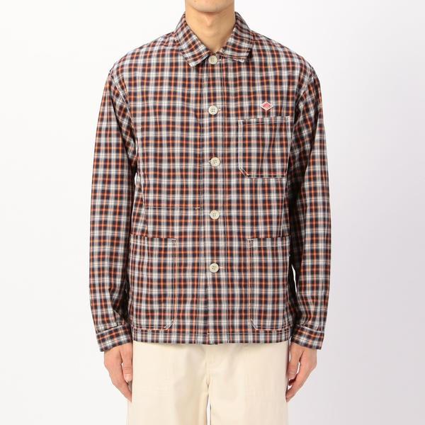 【DANTON】カバーオールシャツジャケット PPL  MEN/ビショップ(メンズ)(Bshop)