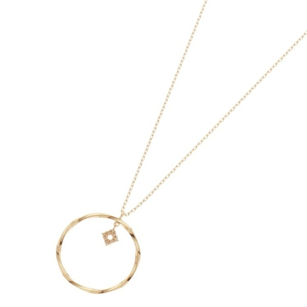 アクセ類(ダイヤモンド ひし形 ツイストフープ ネックレス)/ココシュニック(COCOSHNIK)