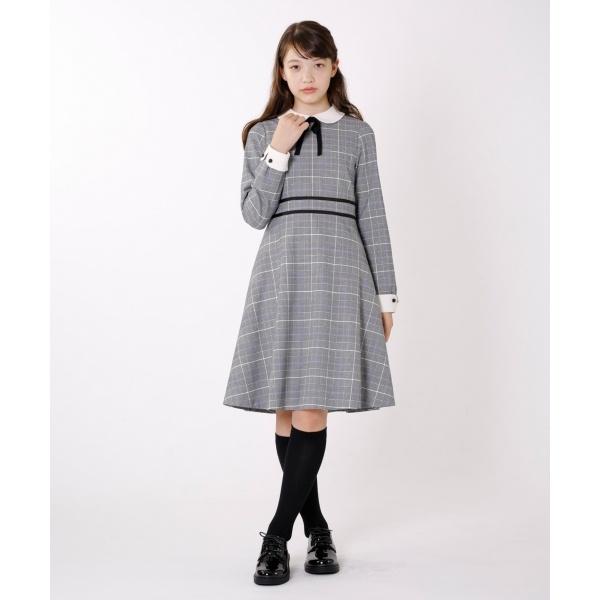 【150~170cm】グレンチェック ワンピース/組曲 キッズ(KUMIKYOKU KIDS)