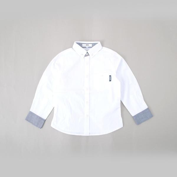 配色シャツ(160cm)/ワスク(WASK)