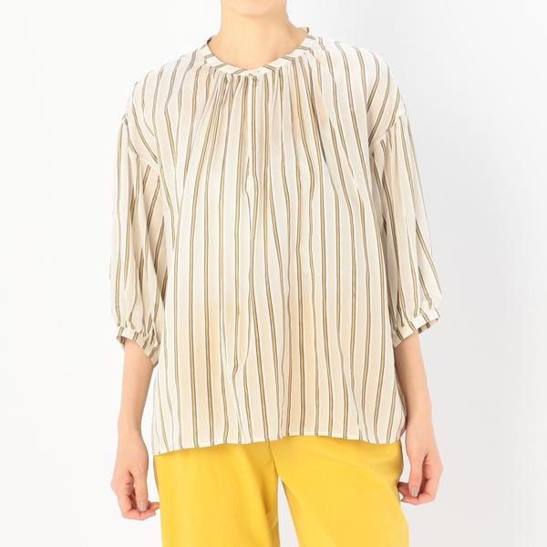 【LE GLAZIK】ギャザーネックシャツ NAG WOMEN/ビショップ(レディース)(Bshop)