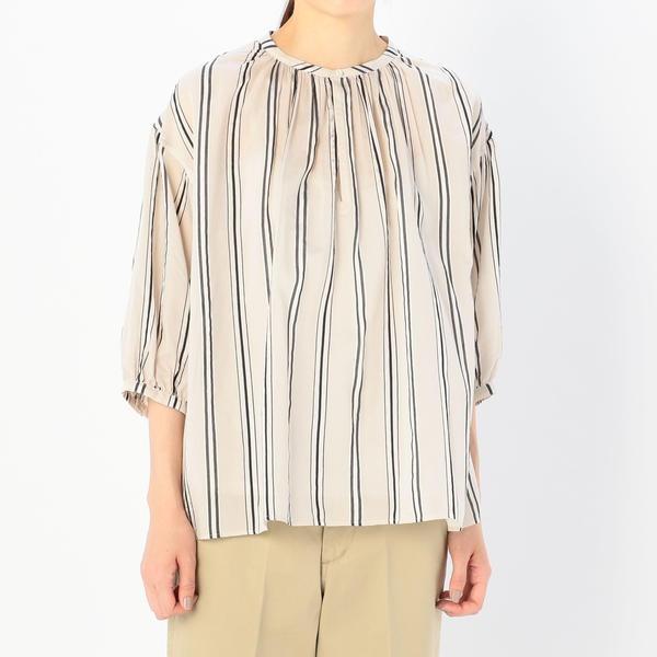【LE GLAZIK】ギャザーネックシャツ NAL WOMEN/ビショップ(レディース)(Bshop)