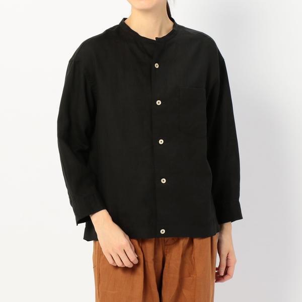 【LE GLAZIK】リネンシャツジャケット WOMEN/ビショップ(レディース)(Bshop)
