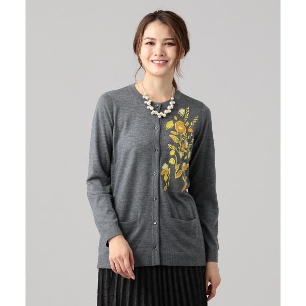 【洗える】プチフルール カーディガン/ジェーン モア(JANE MORE)