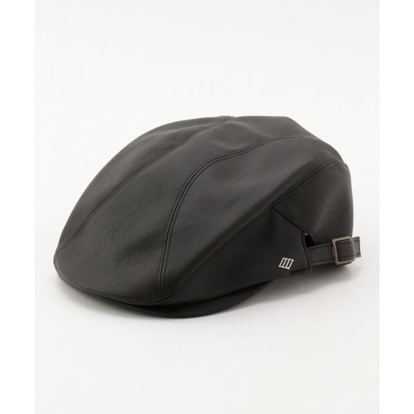 【Made in Japan】ネオレザー ハンチング帽/ジョセフ アブード(JOSEPH ABBOUD)