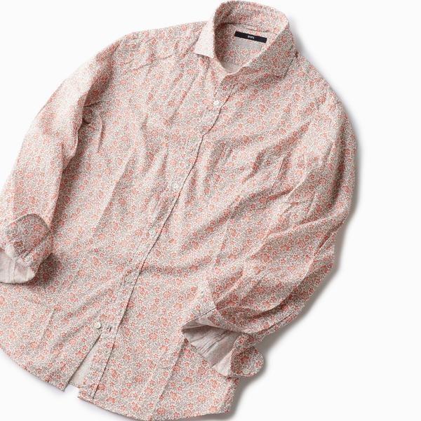 SC: ペルヴィアン ピマ フラワープリント セミワイドカラーシャツ/シップス(メンズ)(SHIPS)