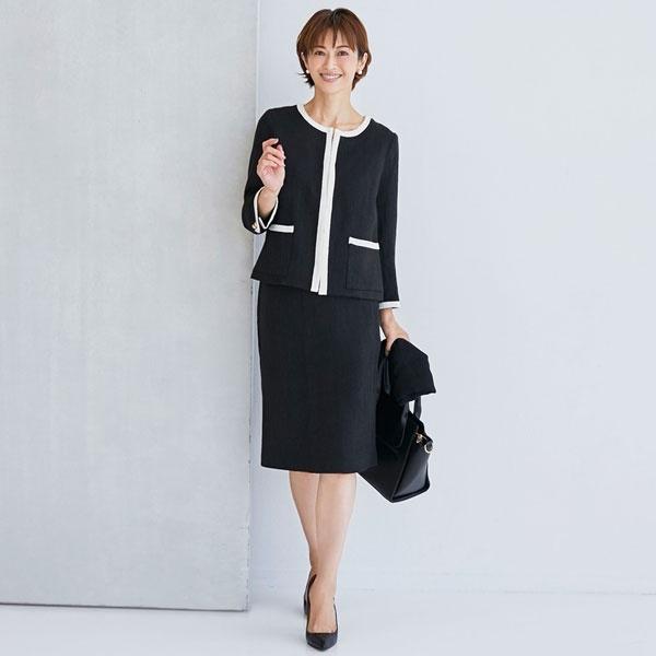 ジャケット スカート セットアップ フォーマル スーツ 結婚式 お呼ばれ ドレス/クリーム(C.R.E.A.M)