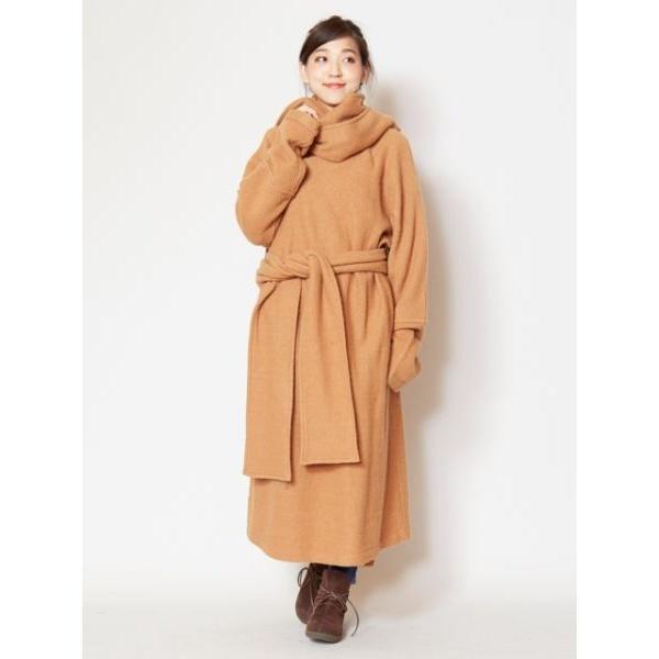 【チャイハネ】ウール100%縮絨ニットコート チベタンマント/チャイハネ(CAYHANE)
