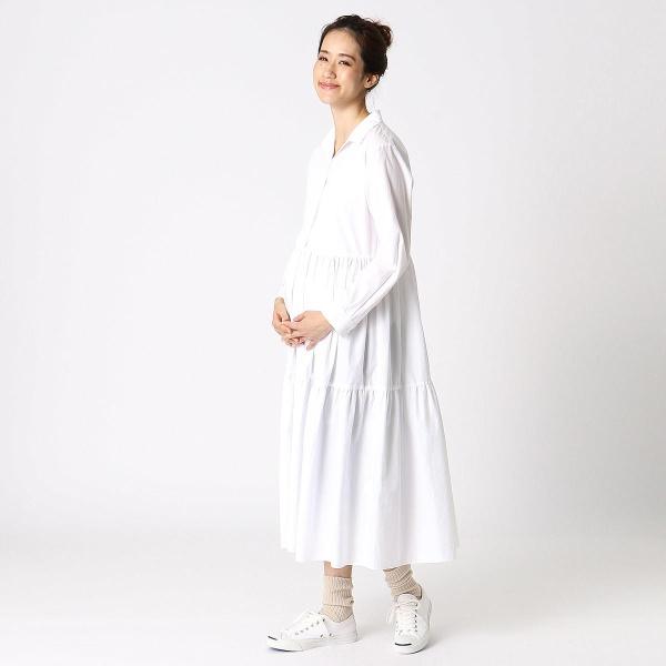 ティアード切替えシャツドレス/コムサブロンドオフ(COMME CA BLANC D'OEUF)