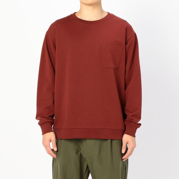 【handvaerk】クルーネックポケットTシャツ MEN/ビショップ(メンズ)(Bshop)