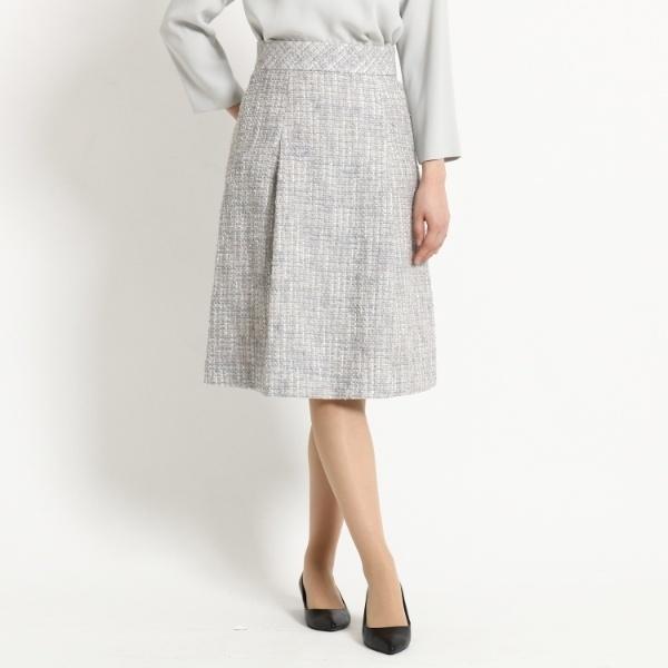 納得できる割引 Lスカート(【WEB限定Lサイズあり】タックフレアーツイードスカート)/ドレステリア(レディス)(DRESSTERIOR Ladies), キヨミムラ 823c632d