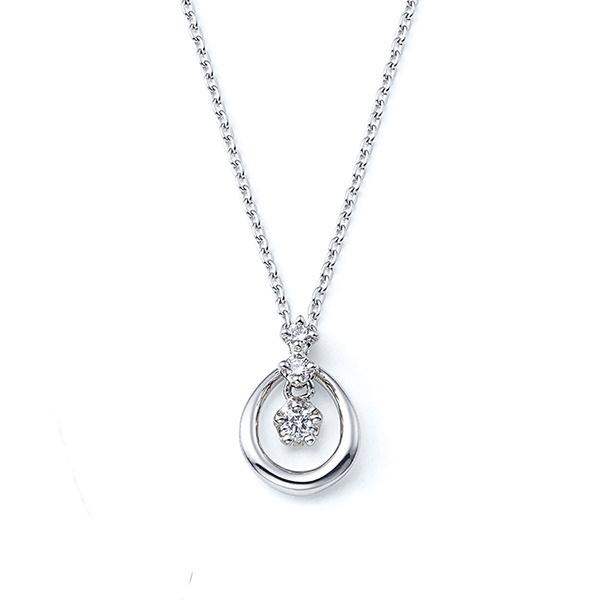 プラチナ ダイヤモンド ネックレス/エステール(ESTELLE)