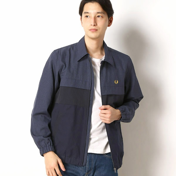 【19SS】MIX PARTS CABAN JACKET/フレッドペリー(メンズ)(FRED PERRY)