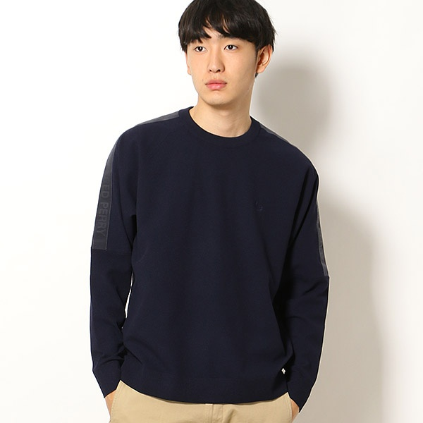 【19SS】CREW NECK PULLOVER/フレッドペリー(メンズ)(FRED PERRY)