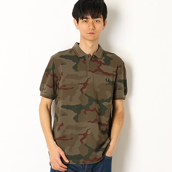 【19SS】ARKTIS CAMOUFLAGE PIQUE SHIRT/フレッドペリー(メンズ)(FRED PERRY)