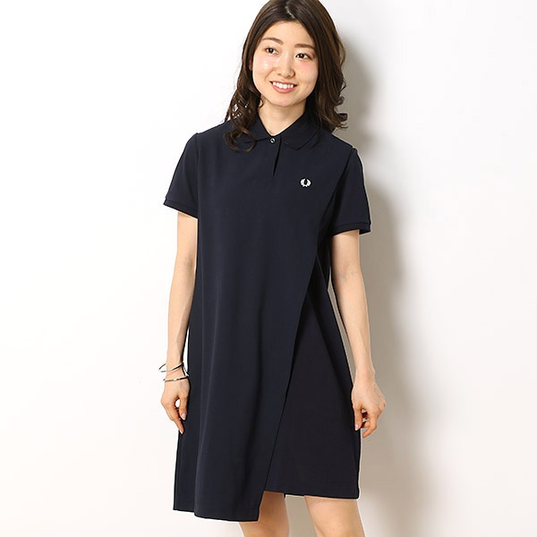 【19SS】OVERLAY PIQUE DRESS/フレッドペリー(レディス)(FRED PERRY)