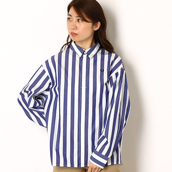 【19SS】LONDON STRIPE SHIRT/フレッドペリー(レディス)(FRED PERRY)