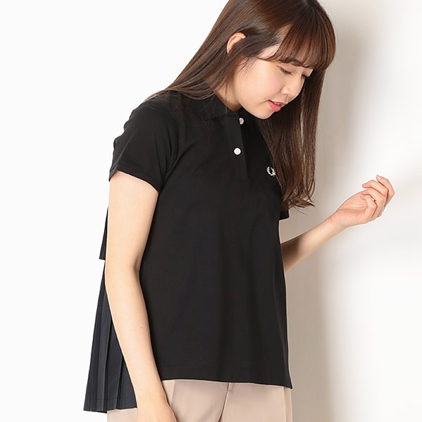 【19SS】PLEAT BACK PIQUE SHIRT/フレッドペリー(レディス)(FRED PERRY)