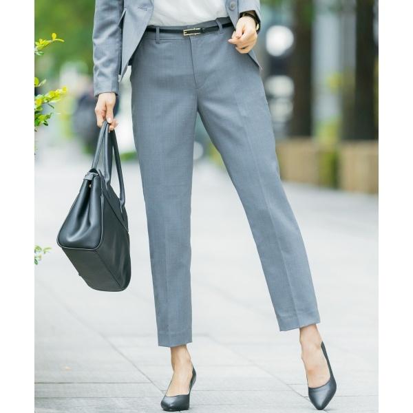 【洗える】ウォッシャブルT/Wスーツテーパード パンツ/エニィスィス Lサイズ(any SiS L)