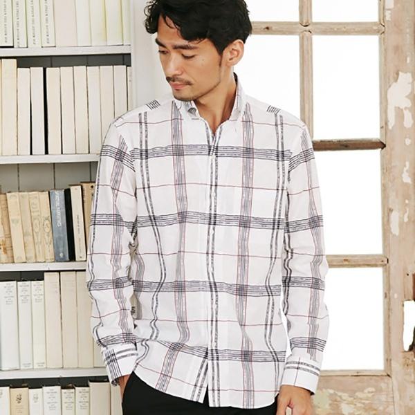 ボタニカルジャガードチェックシャツ/メンズビギ(MEN'S BIGI)