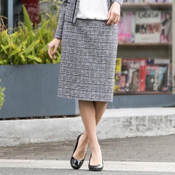 尾州産地で作ったロートレアモンオリジナルのファンシーツイードスカート/ロートレアモン(LAUTREAMONT)