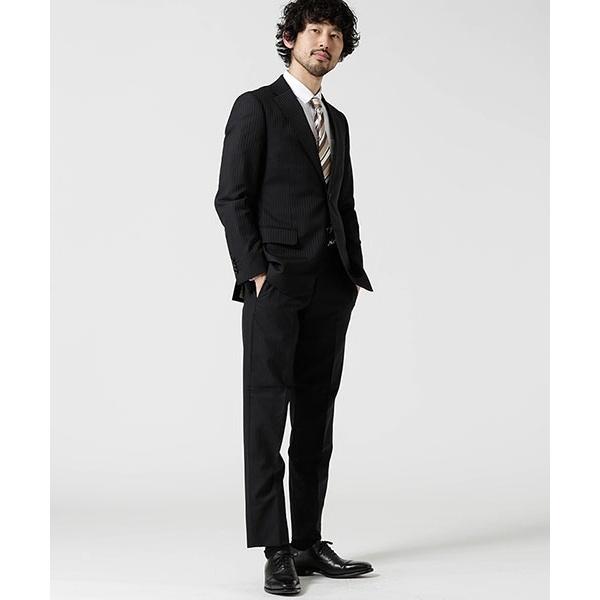 【Dresspresso】スーツ+ストライプ+スタンダード+ブラック/ナノ・ユニバース(メンズ)(nano universe)