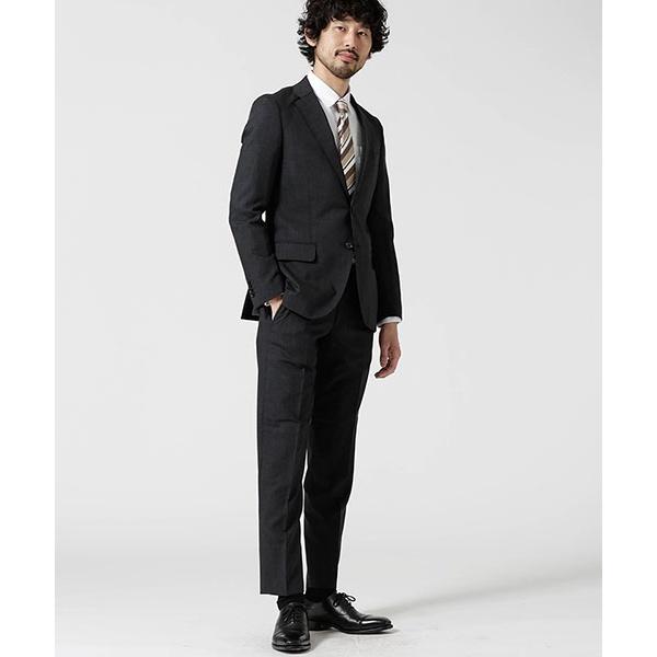 【Dresspresso】スーツ+ソリッド+スリム+グレー/ナノ・ユニバース(メンズ)(nano universe)
