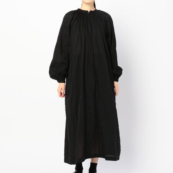 【nicholson and nicholson】ギャザーシャツドレス WOMEN/ビショップ(レディース)(Bshop)