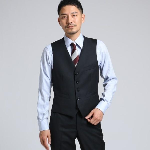 MTシャツ(サージシングルベスト[ メンズ スーツ 結婚式 撥水 3シーズン セットアップ ])/タケオキクチ(TAKEO KIKUCHI)
