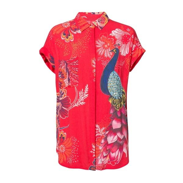 折り返し半袖 シャツ INAYA/デシグアル(Desigual)