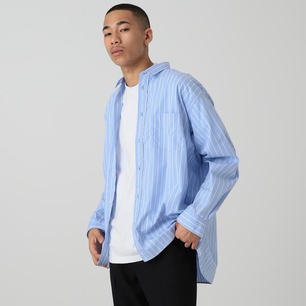 【WEB限定】BEAMS / NEW STANDARD ストライプ イージーシャツ/ビームス(BEAMS)