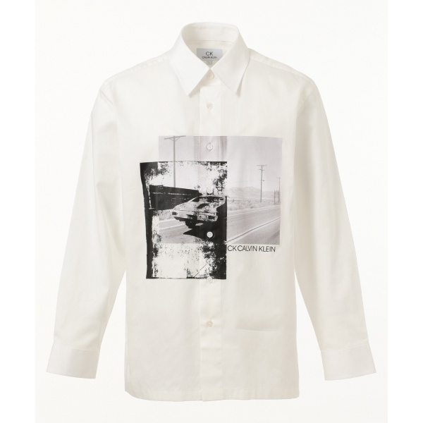 【アドシリーズ】マイクロツイルフォトプリント シャツ/カルバン・クライン メン(Calvin Klein men)
