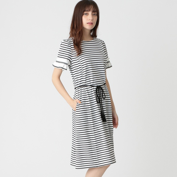 【Tricolore】バスク天竺ボーダーワンピース/トゥービーシック(TO BE CHIC)