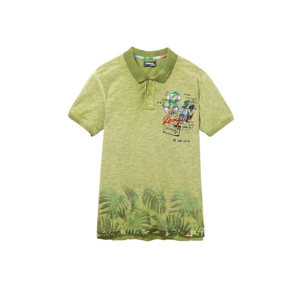 ユーズド加工 ポロシャツ 緑 EROS/デシグアル(Desigual)