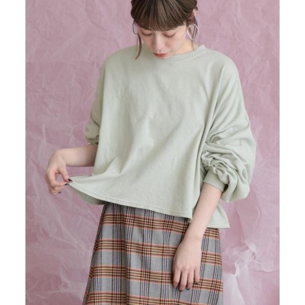 14e8c7fe927c5 レディースTシャツ・カットソー レディスカットソー(WEB限定 ブークレ裏毛プルオーバー)