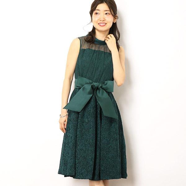 フラワージャガードワンピースドレス/ドリードール(Dorry Doll)
