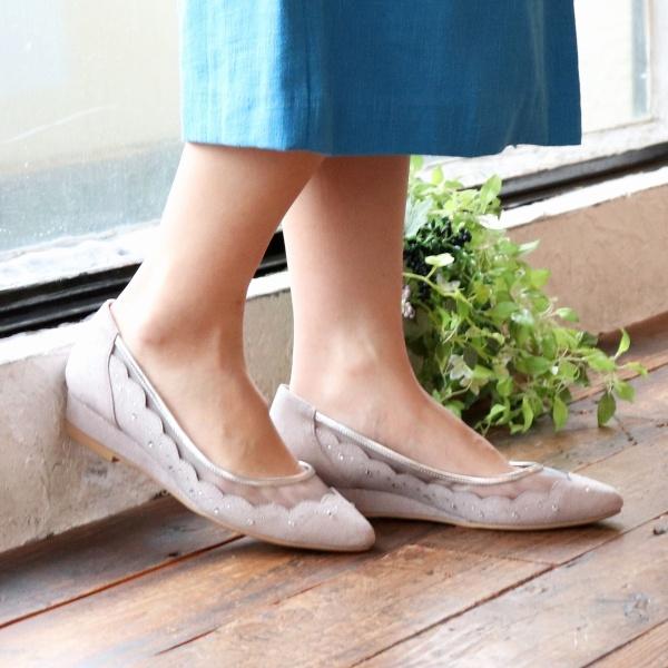 【19春夏新作】スカラップチュールパンプス/ブリジット バーキン(Bridget Birkin)