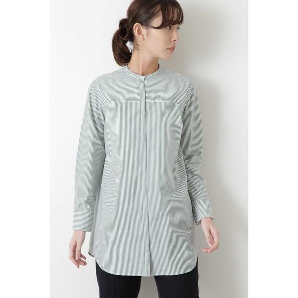◆ストライプローンロングシャツ/ヒューマンウーマン(HUMAN WOMAN)