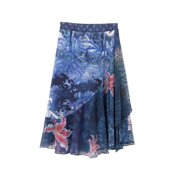 ウエスト伸縮デザインスカート NALA/デシグアル(Desigual)