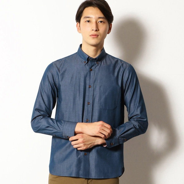 デニムライク シャンブレーツイル ボタンダウンシャツ/コムサコミューン(COMME CA COMMUNE)