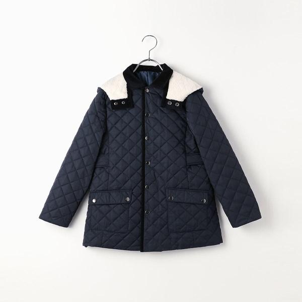 〔140cm~〕中綿キルティングコート/コムサフィユ(COMME CA FILLE)