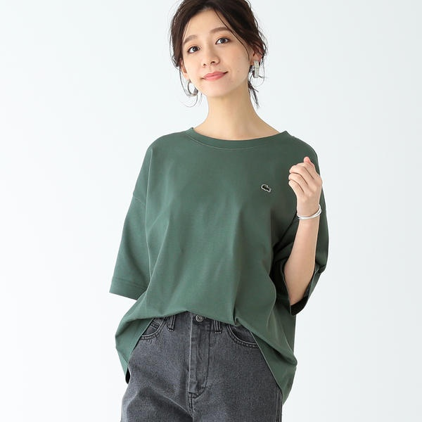 LACOSTE × B MING by BEAMS別注 ヘビーピケ ビッグTシャツ 19SS ビーミングライフストア レディースBming lifestore WqLSUVGMzp