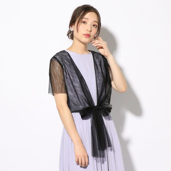 little black:チュール2WAYボレロ/シップス(レディース)(SHIPS for women)