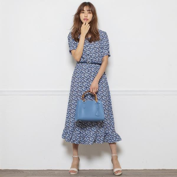 2WAY幾何学ミディー丈ワンピース/ミューズ リファインド クローズ(MEW'S REFINED CLOTHES)