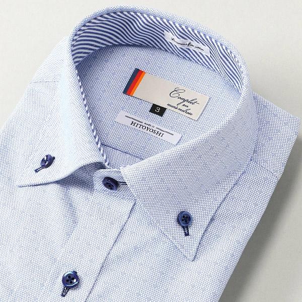 HITOYOSHIイージーケアパステル小紋ドレスシャツ/メンズメルローズ(MEN'S MELROSE)