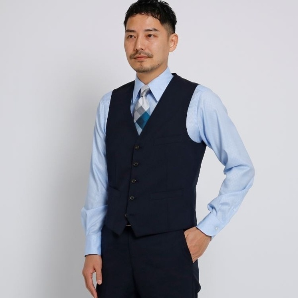 Mジャケッ(シャドーストライプベストFabric by CORDURA(R)[ メンズ スーツ セットアップ ])/タケオキクチ(TAKEO KIKUCHI)