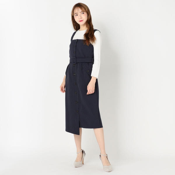 前釦ジャンパースカート/ミューズ リファインド クローズ(MEW'S REFINED CLOTHES)